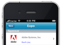Sponsor Preview Example for EventPilot Conference App