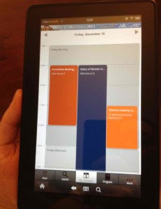 EventPilot conference app on Amazon Kindle Fire