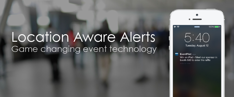 Location based alerts and proximity awareness in conference apps