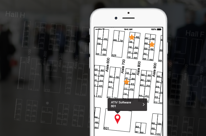 Mobile app for expo halls tradeshows for Wedding floor plan app