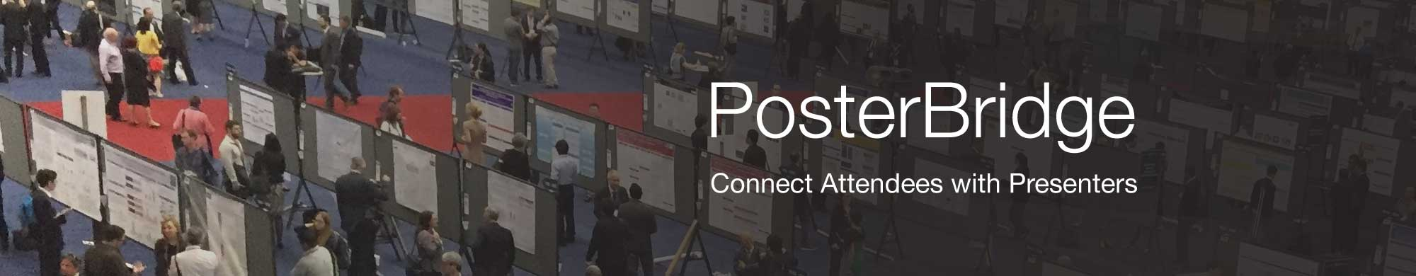 Connect attendees with poster presenters